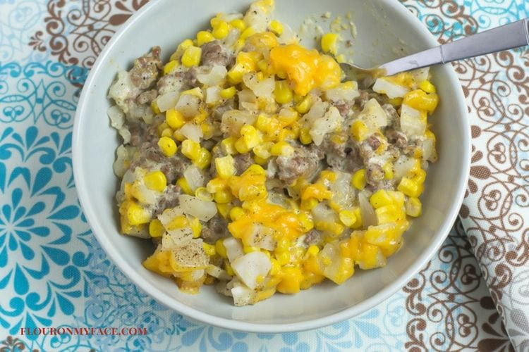 Recipe with ground beef and potatoes obrien