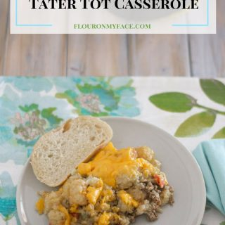 Crock Pot Slow Cooker Tater Tot Casserole recipe via flouronmyface.com