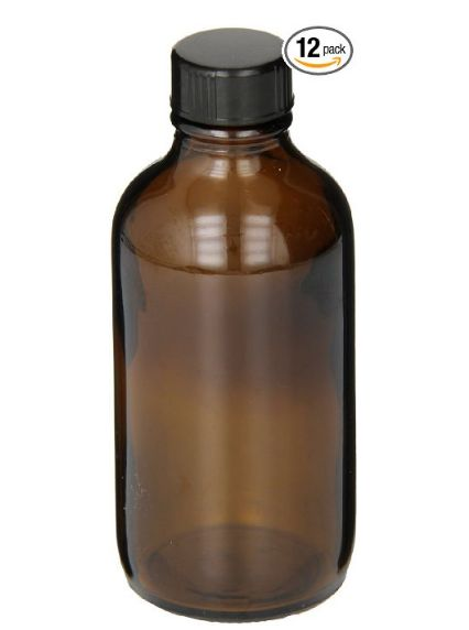 4 oz Brown Boston Round Bottles for homemade Vanilla Extract