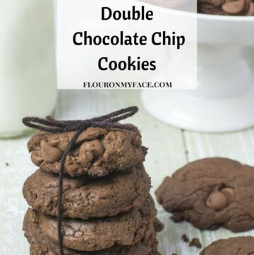 Nut Free Double Chocolate Chip Cookies via flouronmyface.com #ad