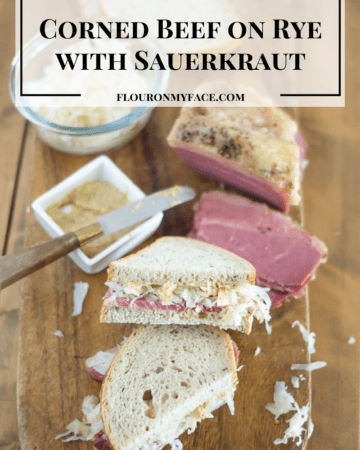 Corned Beef on Rye with Sauerkraut