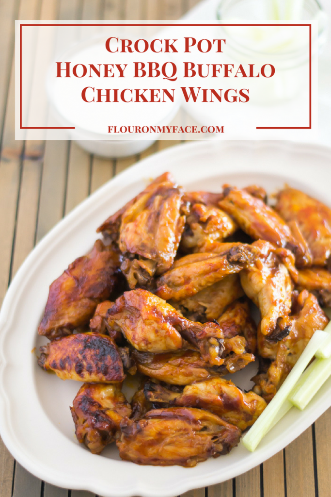 Crock Pot Honey BBQ Buffalo Chicken Wings