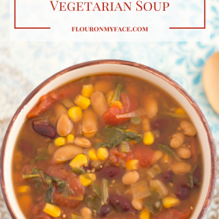 Crock Pot Vegetarian Soup recipe via flouronmyface.com