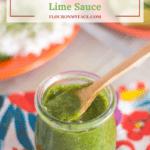 Cilantro Green Chile Lime Sauce