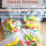 How To Freeze Sweet Bell Peppers