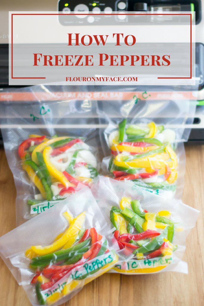 How To Freeze Peppers via flouronmyface.com