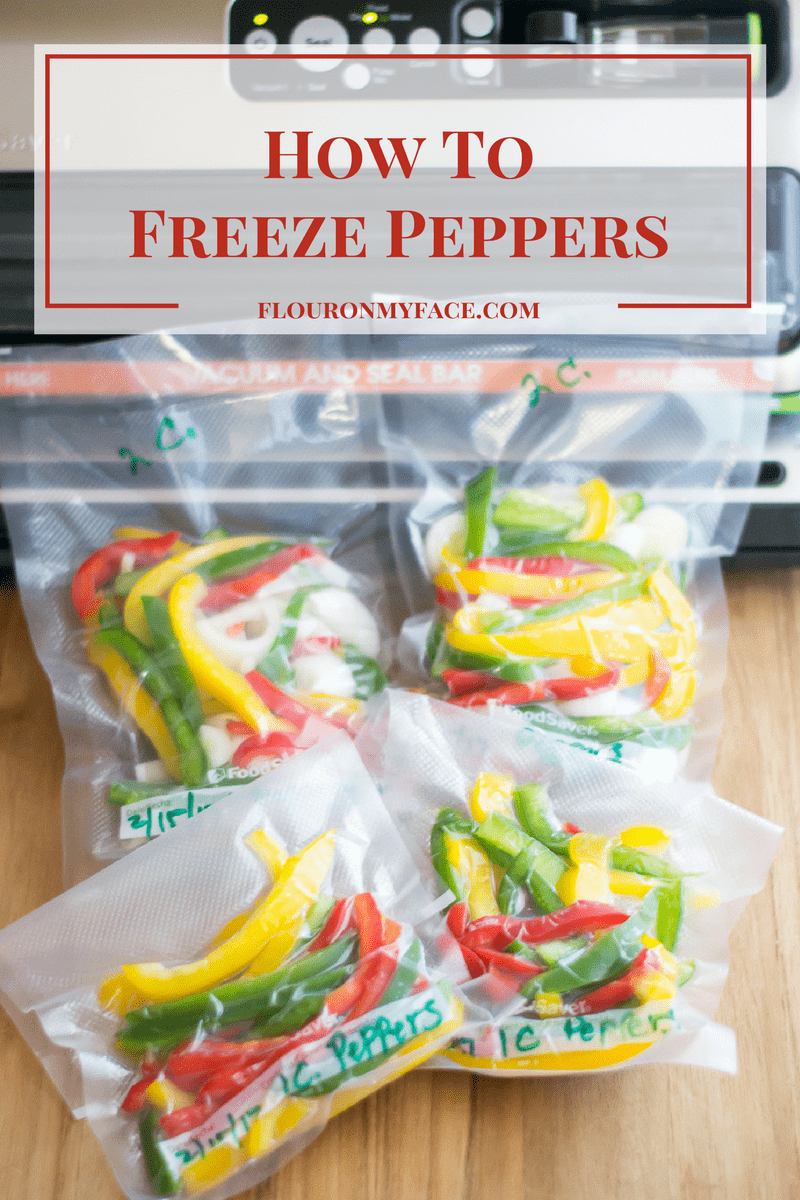 How To Freeze Sweet Bell Peppers via flouronmyface.com