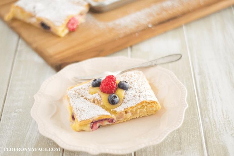 Cream Cheese and lemon curd filled crescent bars dessert recipe via flouronmyface.com #ad