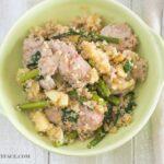 Pork Apple Wilted Spinach Quinoa Bowls via flouronmyface.com #ad