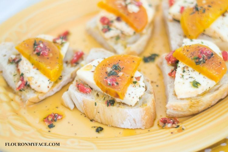 Roasted Golden Beets with Marinated Mozzarella via flouronmyface.com