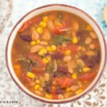 Crock Pot Slow Cooker Vegetarian Soup recipe via flouronmyface.com