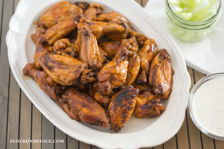 Sticky Honey BBQ Wings made in a crock pot slow cooker.