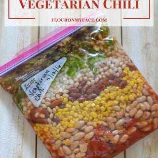 Freezer Meals Vegetarian Chili