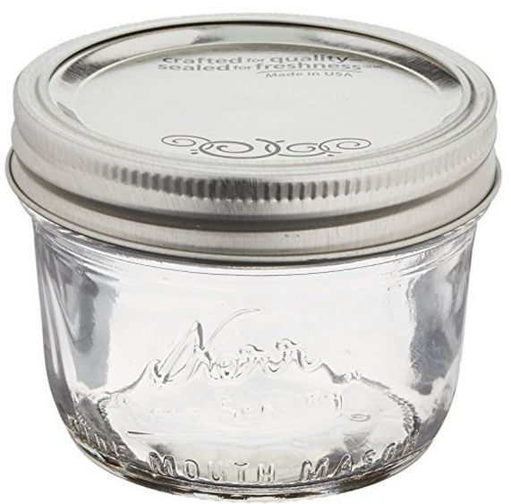 Kerr Wide Mouth Half Pint 8 oz Canning Jar
