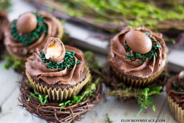 Cadbury Eggs Cupcake recipe