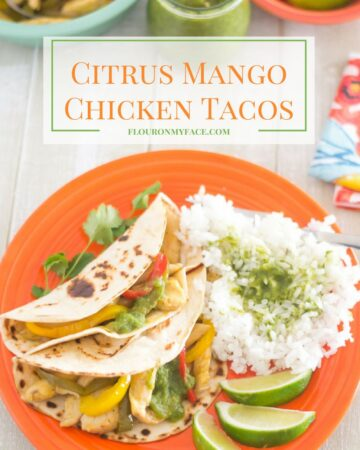 Citrus Mango Chicken Tacos recipe