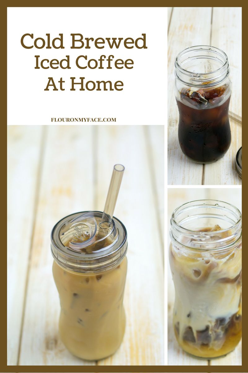 How to make Cold Brewed Iced Coffee concentrate at home so you can enjoy all your favorite iced coffee house drinks.