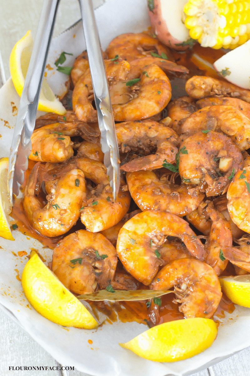 Creole BBQ Shrimp recipe for #SundaySupper
