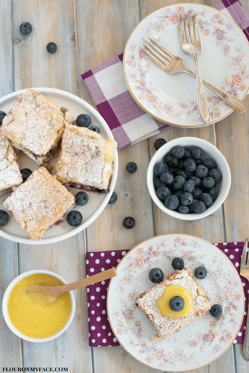 Fresh Blueberry Cheesecake Bars recipe #ad