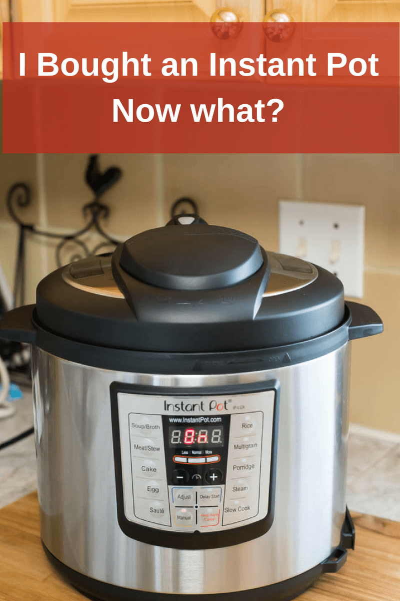 I bought an Instant Pot Electric Pressure Cooker. Now what?