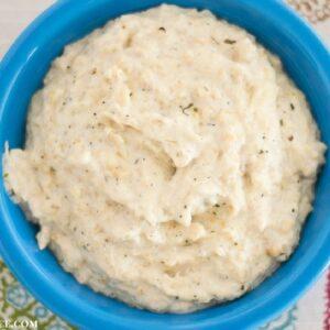 Creamy, cheesy mashed cauliflower recipe
