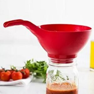 wide mouth canning funnel-red