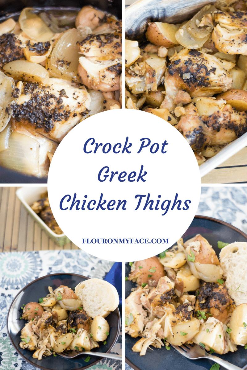 Slow Cooker Greek Chicken Thighs recipe