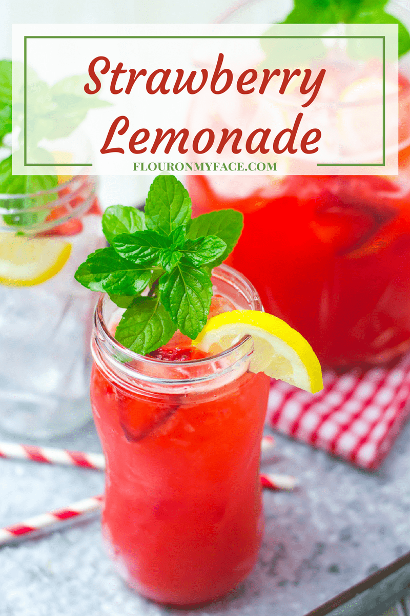 Sweet Fresh Strawberry Lemonade