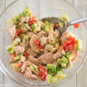 Tuna Avocado Wraps filling ingredients