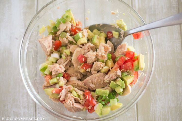 Tuna Avocado Wraps filling ingredients