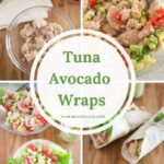 Healthy Low Carb Tuna Avocado Wraps