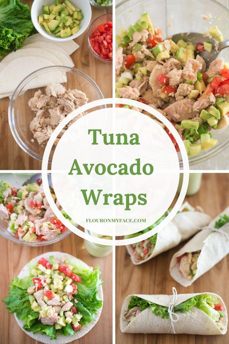 Healthy protein packed Tuna Avocado Wraps recipe #ad