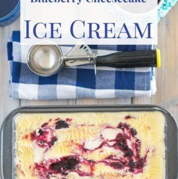 Blueberry Cheesecake Ice Cream Recipe #ad