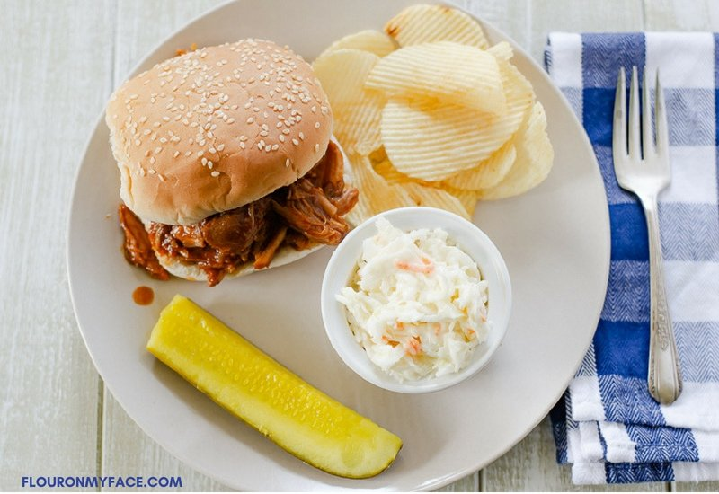 Crock Pot Pulled Pork recipe is made with 5 ingredients and the best pulled pork