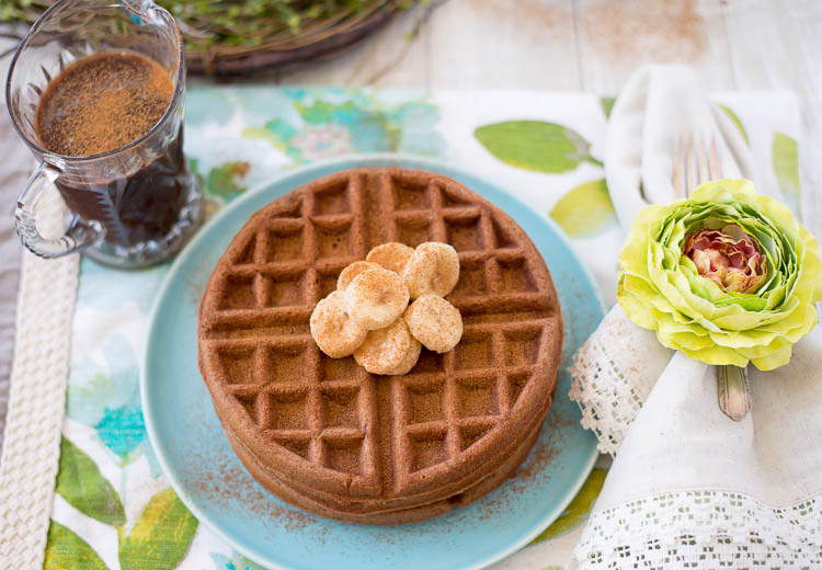 Nutella Waffles recipe for Mother's Day
