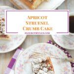 Homemade Apricot Struesel Crumb Cake