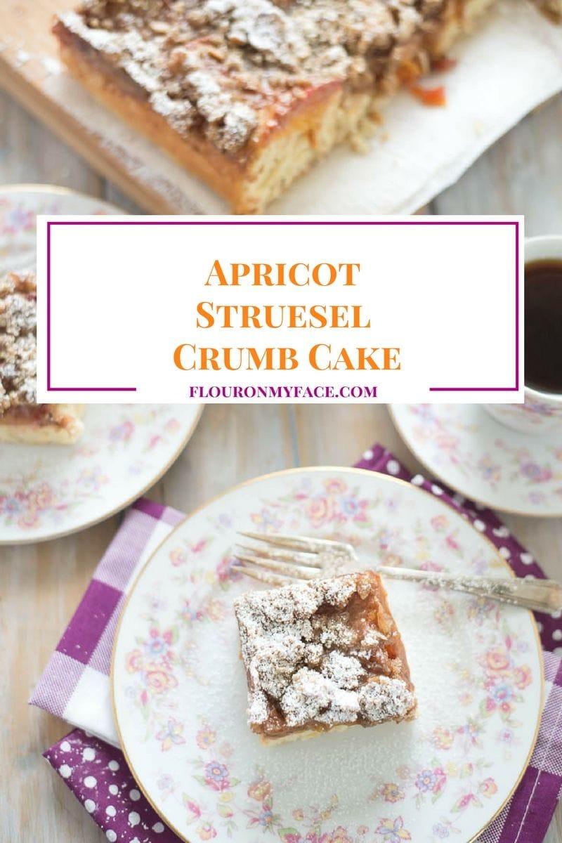 Apricot Struesel Crumb Cake recipe via flouronmyface