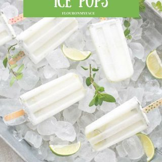 A Creamy Coconut Mojito Ice Pops recipe via flouronmyface.com