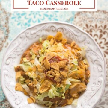 Crock Pot Cheesy Frito Taco Casserole recipe via flouronmyface.com