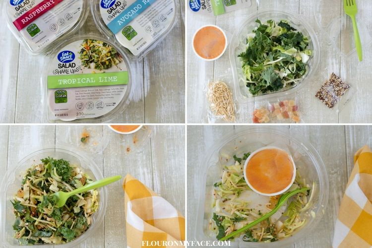 Eat Smart clean eating salads are packaged in the perfect to go container with everything to need to enjoy all packaged together.