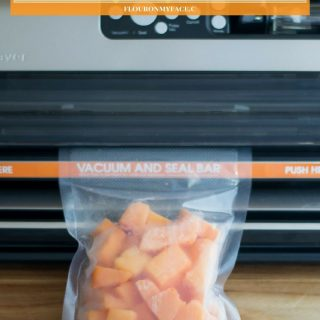 How To Freeze Fresh Papaya via flouronmyface.com