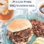 Instant Pot Pulled Pork recipe for barbecue pulled pork sandwiches via flouronmyface