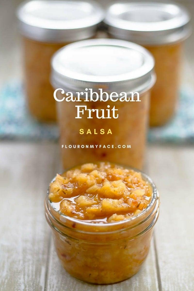 Caribbean Fruit Salsa via flouronmyface.com