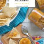 Ball Home Canning Caribbean Fruit Salsa recipe via flouronmyface.com