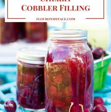 Cherry Cobbler Filling recipe made with fresh sweet bing cherries via flouronmyface.com #ad