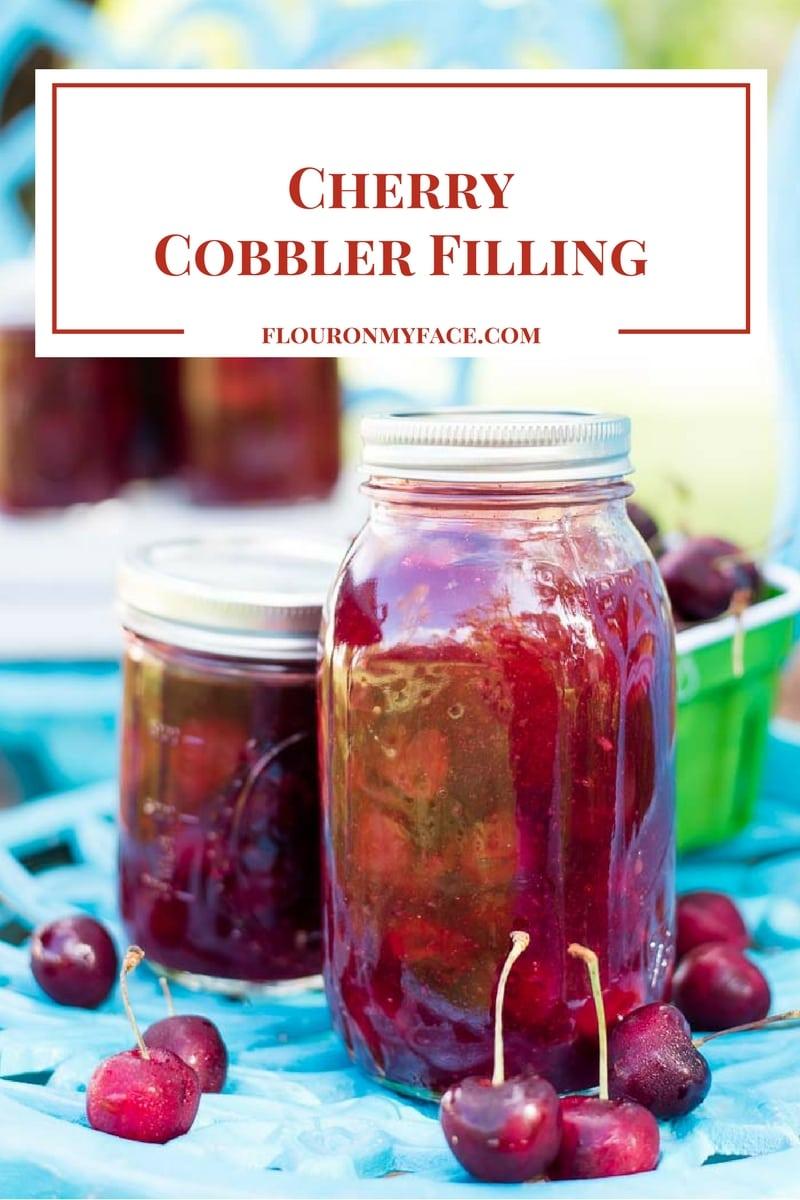 Cherry Cobbler Filling recipe made with fresh sweet bing cherries via flouronmyface.com #ad