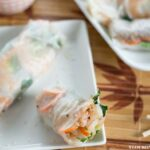 Healthy and wholesome Shrimp and Quinoa Fresh Spring Rolls recipe