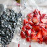 How To Freeze Berries for Jam via flouronmyface.com