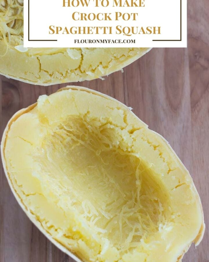 How To Make Crock Pot Spaghetti Squash via flouronmyface.com