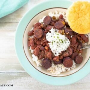 Easy New Orleans Red Beans made in the crock pot
